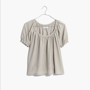 Madewell texture & thread peasant top XS